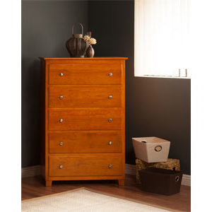 atlantic five drawer chest