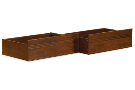 flat panel storage drawers walnut