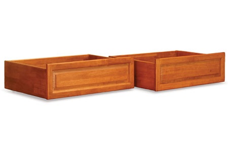 raised panel storage drawers caramel